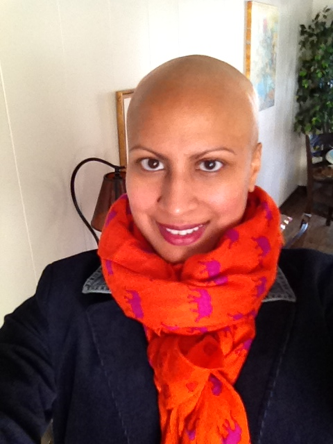 It's usually too cold to go full on bald -- but here's a pic of me sportin' my Mr. Clean look!