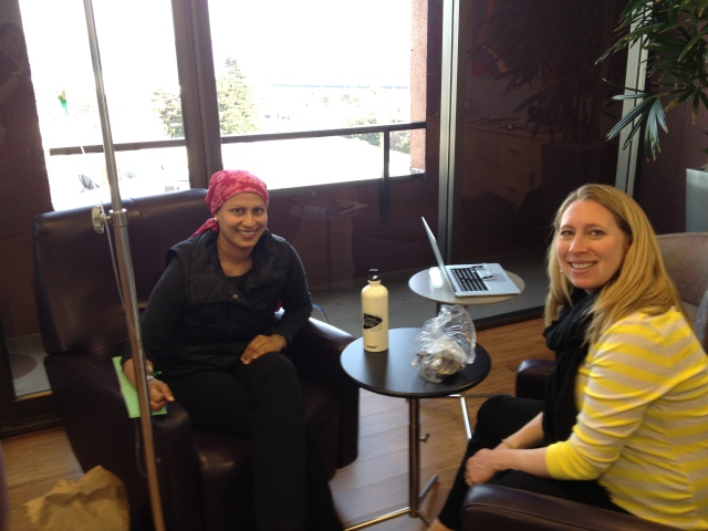 Tegan and I visiting during chemo!
