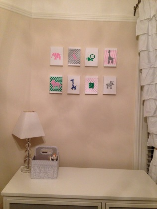 Voila! $90 DIY nursery artwork complete! Made with love for our bebe!